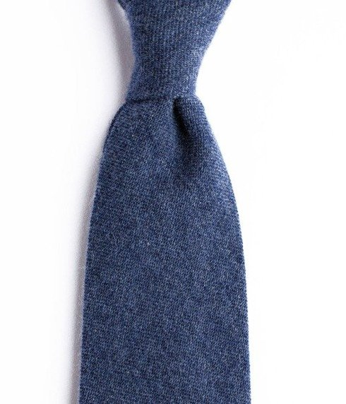 UNTIPPED CASHMERE NAVY TIE