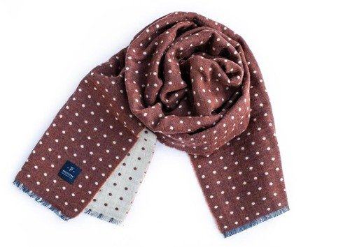 reversible wool scarf