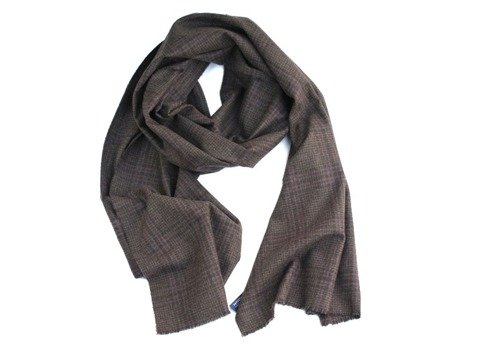 100% cashmere brown scarf