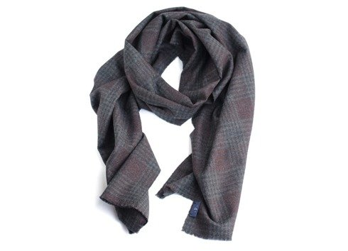 100% cashmere dark grey scarf