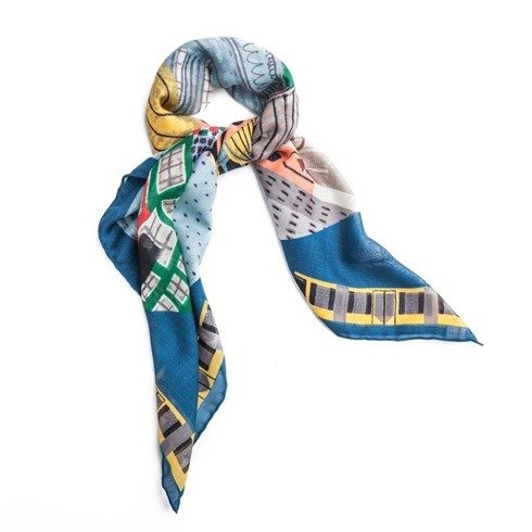 """Berlin"" Wool and Silk scarf 100 cm"