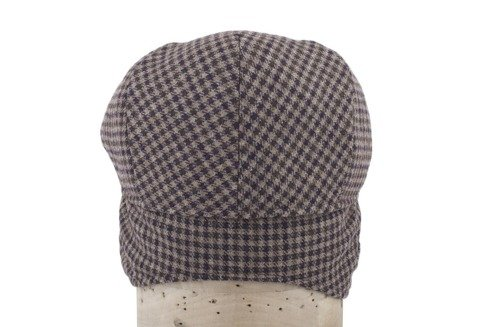 Brown flat cap with ear flaps Marling & Evans