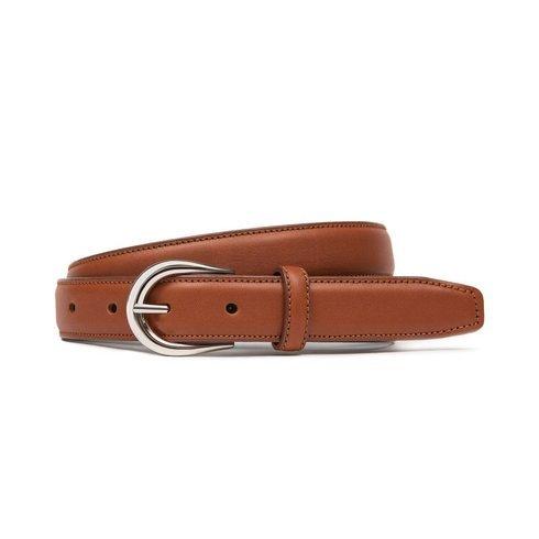"Cognac leather belt ""Ruler"""