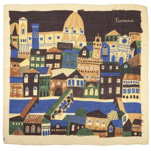 """""""Florence"""" Wool and Silk scarf 65 cm"""