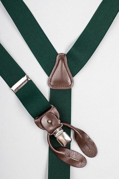 Green elastic braces 3,5 CM