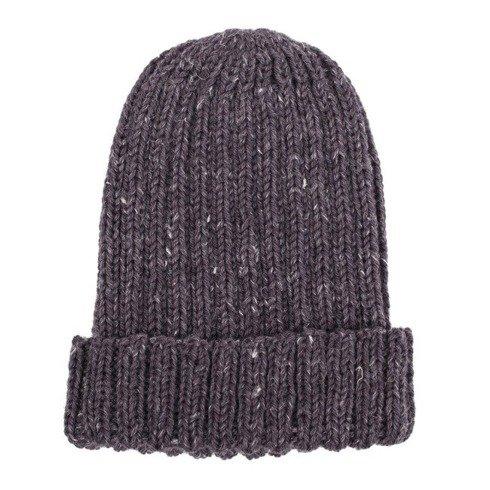 Hand-knit graphite beanie