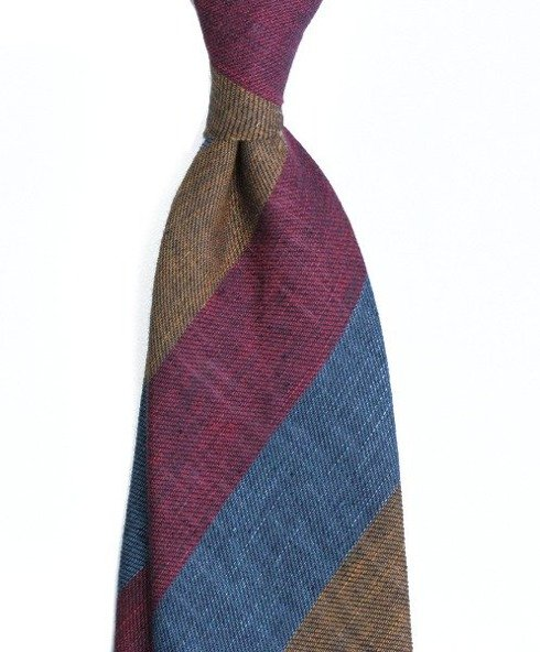 LUXURY linen jacquard regimental TIE