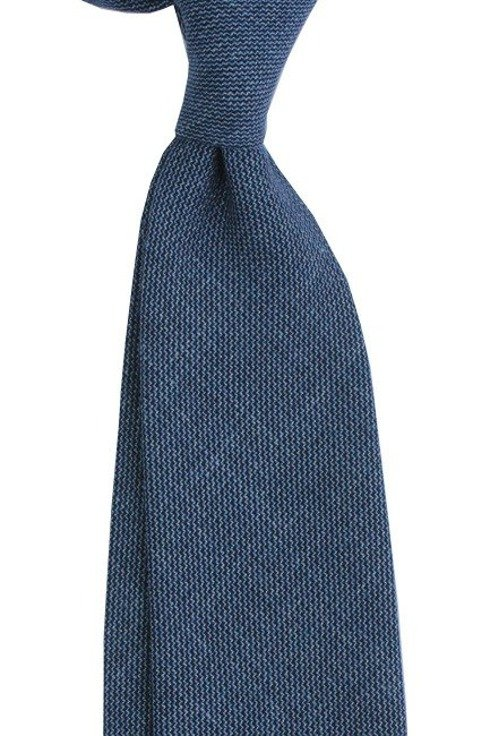 Linen NAVY untipped tie