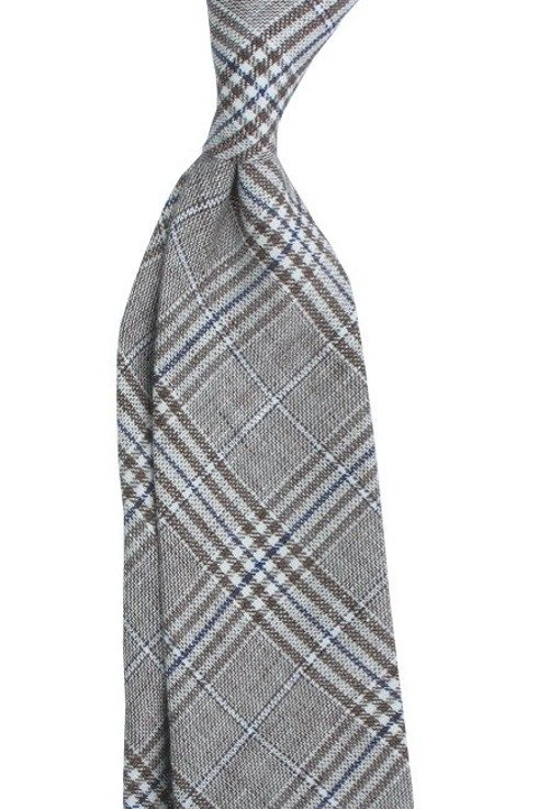 Linen PRINCE OF WALES untipped tie