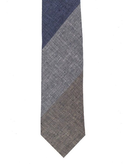 Linen self-tipped tie