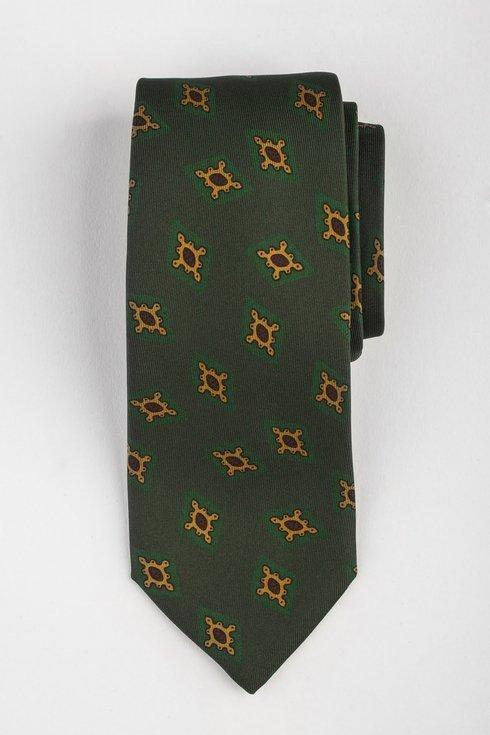 Macclesfield tie green with diamonds