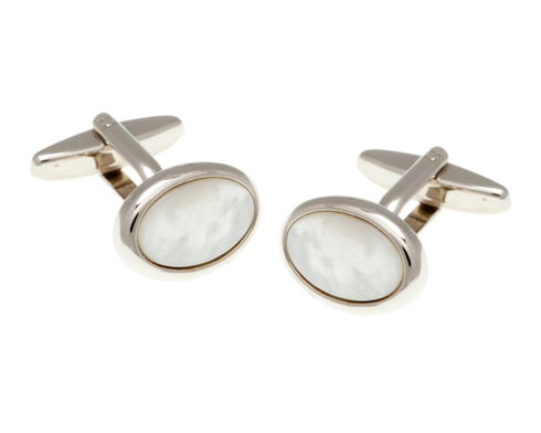 Oval Mothers of Pearl Cufflinks