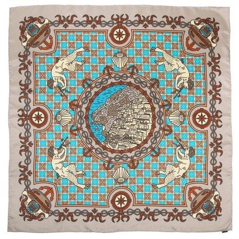 """Positano"" Silk scarf 45 cm"