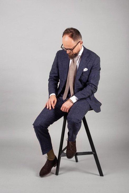 Preorder: navy spring suit 'Portofino'