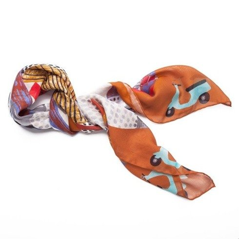 """""""Roma"""" Wool and Silk scarf 100 cm"""