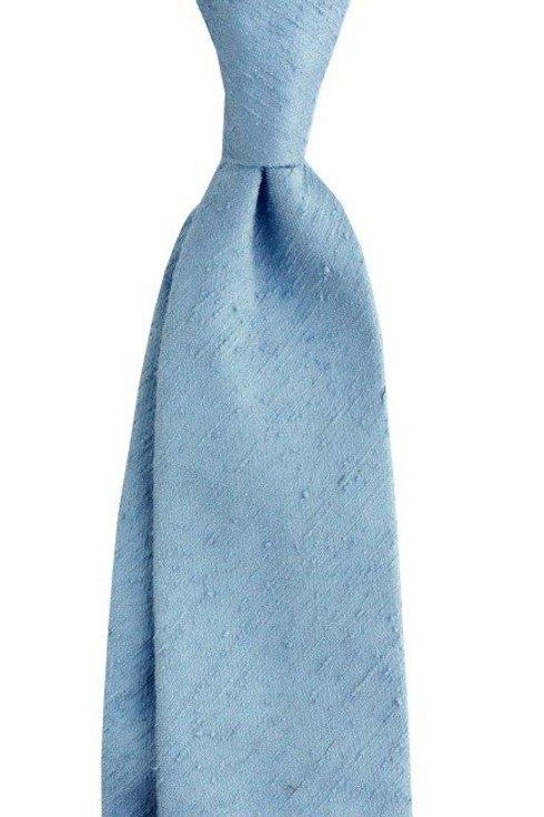 Shantung tie sky blue