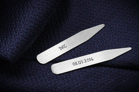 Silver Collar Stiffeners Delicate Matte