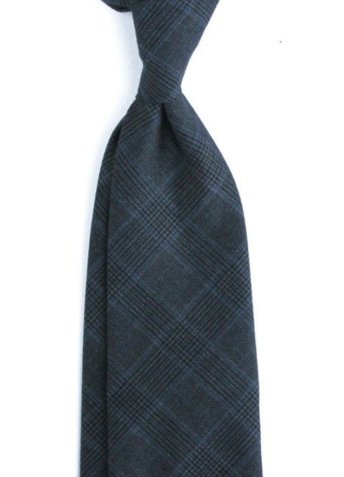 UNTIPPED Prince of Wales WOOLEN  TIE