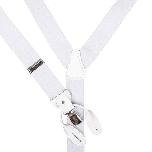WHITE BRACES 3,5 CM CLIPS & BUTTONS