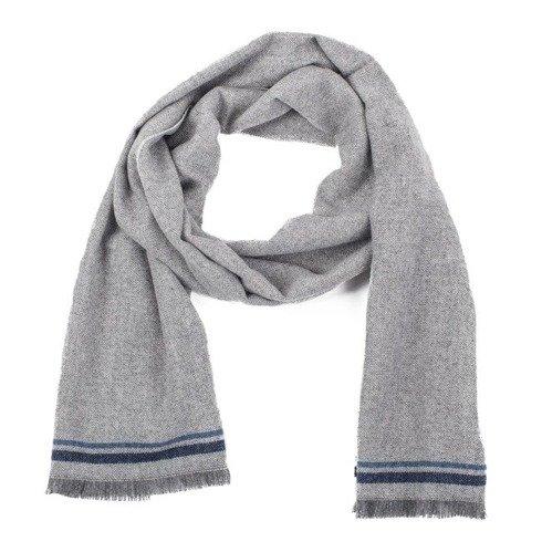 grey melange cashmere scarf