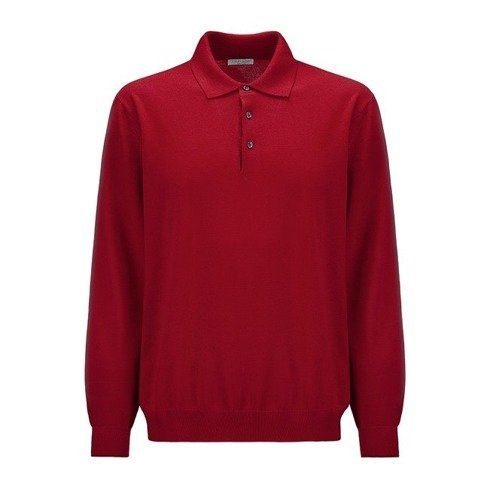 light merino wool Polo sweater
