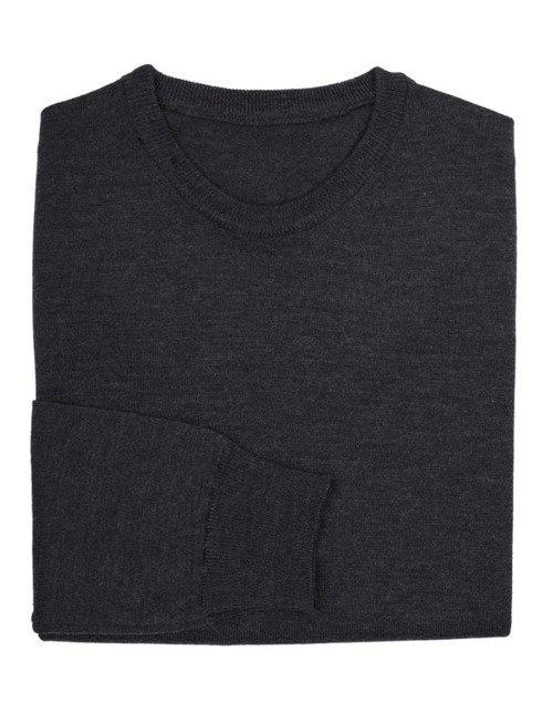 light merino wool sweater anthracite