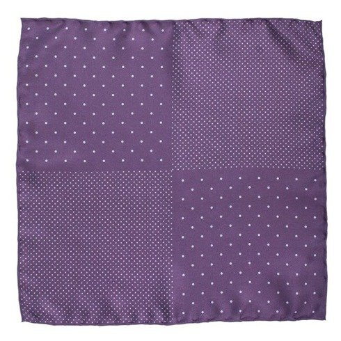 lilac pocket square polka dots
