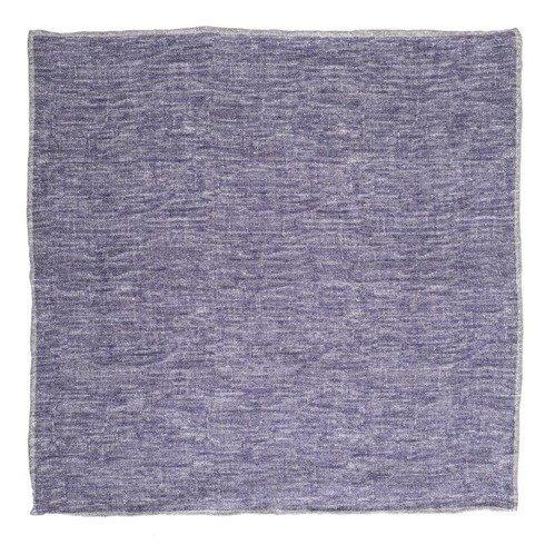 linen pocket square melange