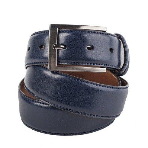 navy leather belt