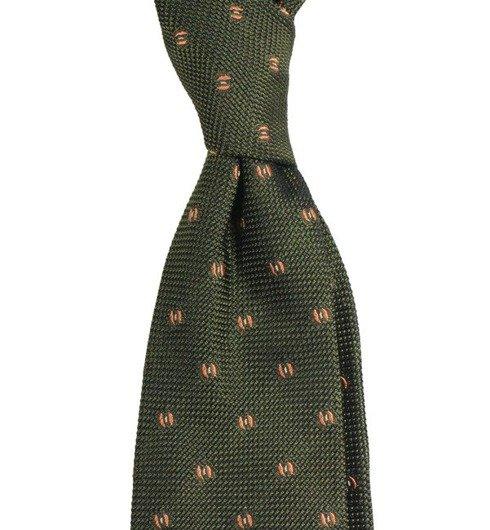 olive grenadine 3-fold tie