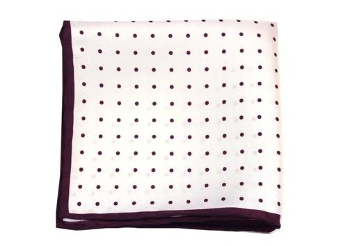 polka dots silk pocket square
