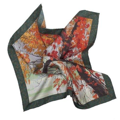 "silk 100cm scarf ""Autumn Leaves"" Edward Okuń"