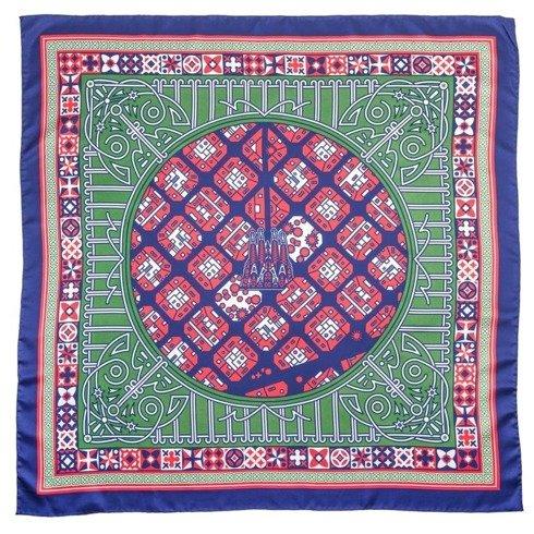 silk 45cm scarf  BARCELONA JAN KALLWEJT