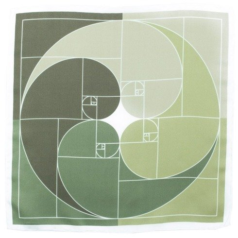 silk pocket square Fibonacci Sequence
