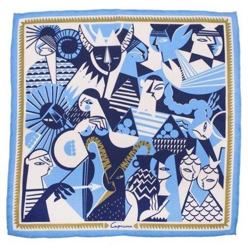 silk pocket square zodiac Capricorn
