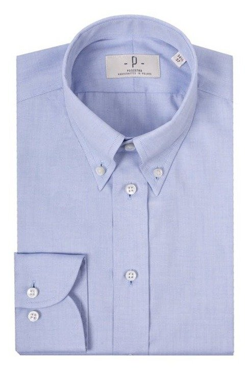 sky blue button down shirt