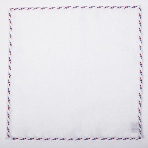 triple thread linen pocket squares – three edge colours