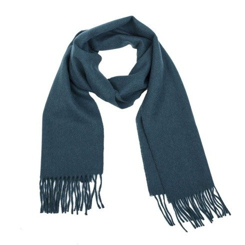 turquoise woolen classic scarf