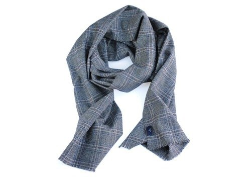 wool & cashmere grey scarf
