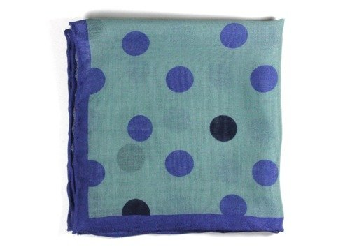 wool & silk big dots pocket square
