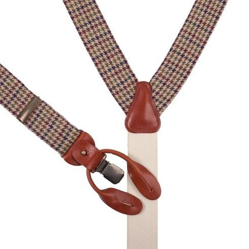 woolen BRACES 3,5 CM CLIPS & BUTTONS