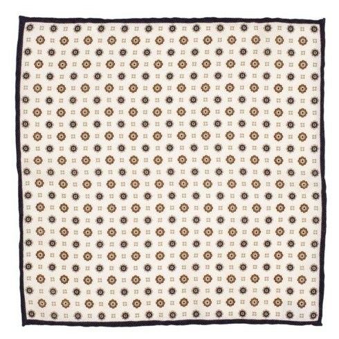 woolen black flowers pocket square