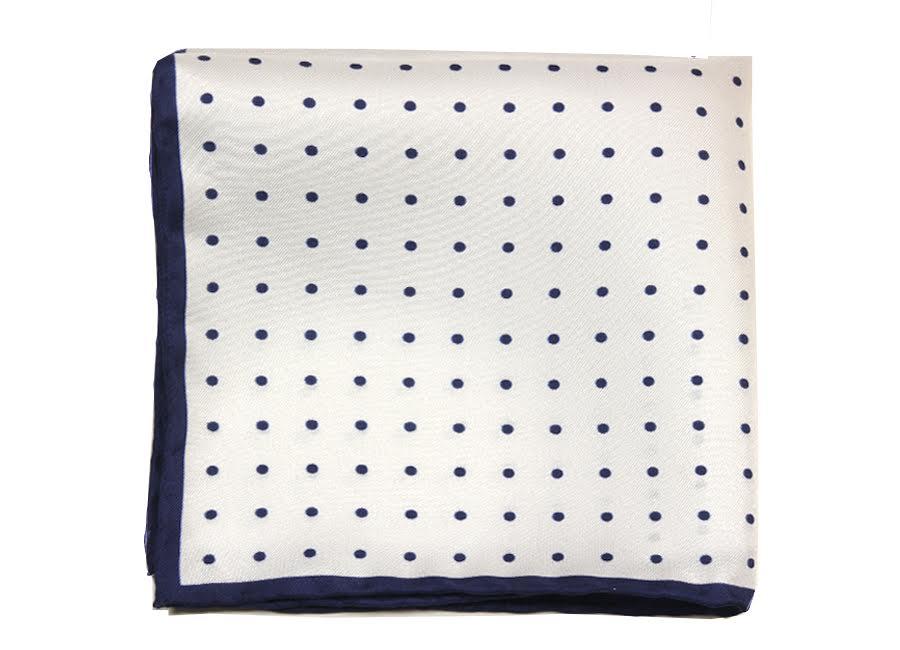 polka dots silk pocket square | ACCESSORIES \ POCKET SQUARES \ SILK POSZETKI \ jedwab wzorzysty ...