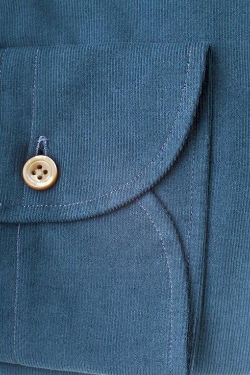 Corduroy spread collar Albini shirt