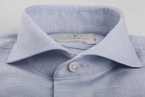 Cotton flannel spread collar Albini shirt