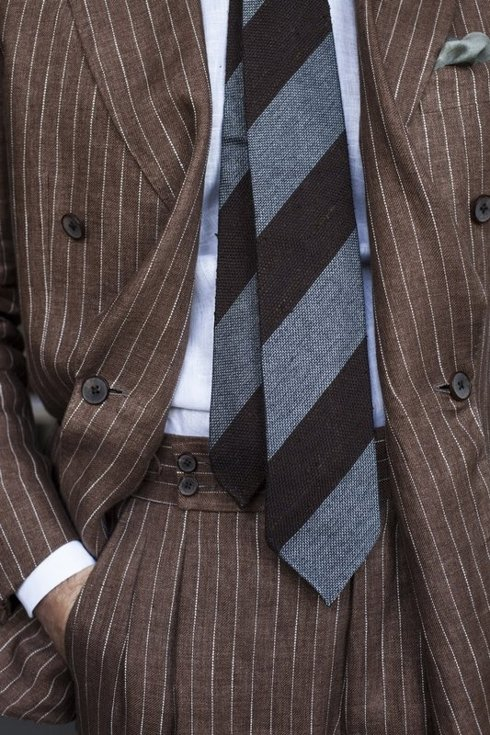 "DOUBLE BREASTED SUIT ""POSITANO"""
