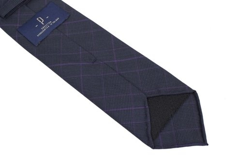 Grey PoW untipped tie