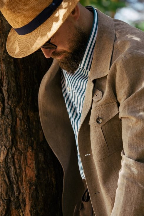 Linen safari jacket 'Artuhr'