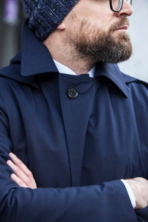 NAVY RAINCOAT STRAIGHT OUT OF PRL