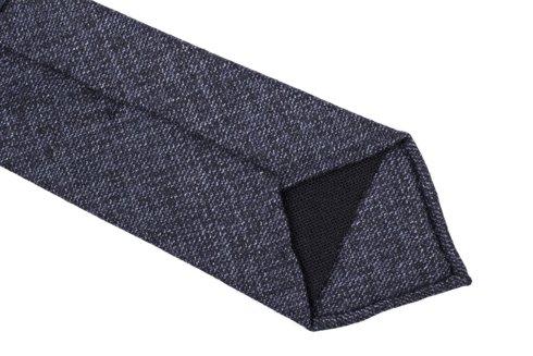 Navy melange woven untipped tie